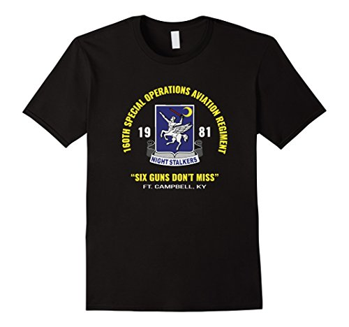 lkers Ft Campbell T Shirt 3XL Black (Special Operations Aviation)
