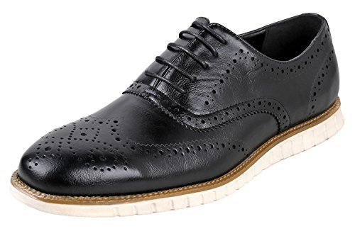 Urban Fox Men's Oliver Oxford Dress Shoes | Comfortable I Formal | Lace-Up | Classic Design | Black 11 Fits as 10 M US