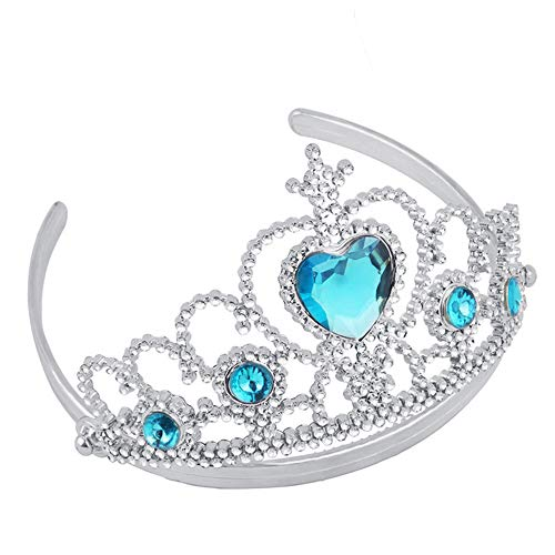 Livoty Girl Queen Princess Crown Crystal Tiara Halloween Cosplay Holiday Party Gifts (Sky -