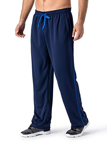 - MAGNIVIT Men's Hip Hop Loose Fit Track Pants - Athletic Jogger Bottom with Elastic Waist Blue