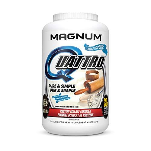 Magnum Nutraceuticals Quattro Protein Powder - 2lbs - Pure & Simple - Pharmaceutical Grade Protein Isolate - Lactose Free - Gluten Free - Peanut Free