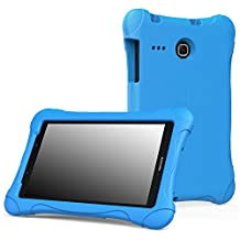 MoKo Samsung Galaxy Tab E 8.0 Case - Kids Friendly Ultra Light Weight Shock Proof Super Protective Cover Case for Samsung Galaxy Tab E 8.0 Inch Tablet, BLUE