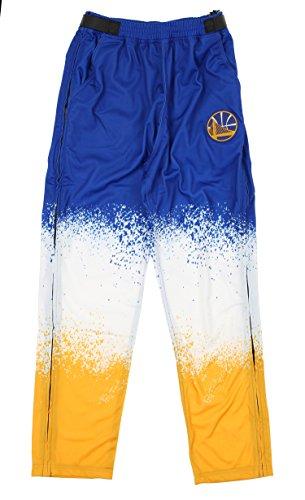 Zipway Golden State Warriors NBA Mens Retro Pop Tear-Away Pants, Blue & Yellow ()