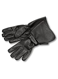 Milwaukee Motorcycle Clothing Company Men\'s Leather Gauntlet Riding Gloves (Black, X-Large)