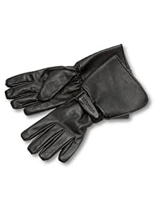 Milwaukee Motorcycle Clothing Company Men's Leather Gauntlet Riding Gloves (Black, Medium)
