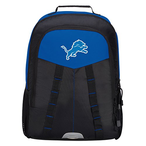Officially Licensed NFL Detroit Lions Scorcher Sports Backpack, Blue