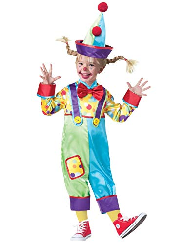 InCharacter Baby's Clown Costume, Multi, 4T