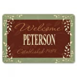 Lillian Vernon Personalized Established in. Floormat - 27'' x 18'' Non-Skid Rubber Back, Polyester Doormat, Gift for Anniversary, Wedding, Custom Welcome Mat