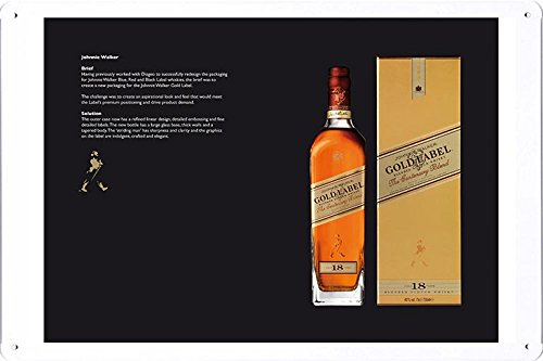 Johnnie Walker Gold Label - Tin Sign Metal Poster Plate (8