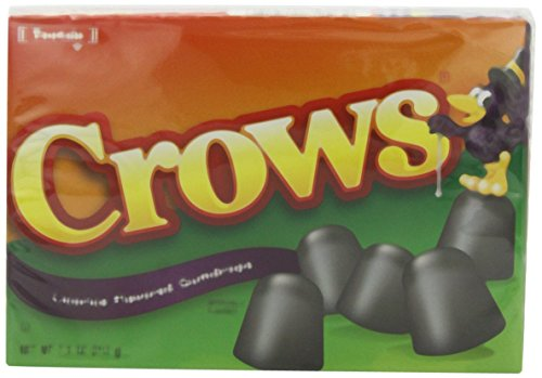 Tootsie Roll Crows Licorice Flavored Gumdrops 6.5 Ounce (Pack of 6) Crows Licorice
