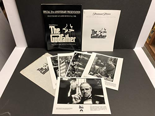 (The Godfather 25th anniversary Movie Press Kit with Photo Set (1-5) & Handbook of Production Information)