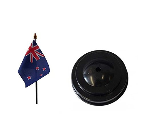 Retail Zone Zealand Table Flag With Base - Rugby Base