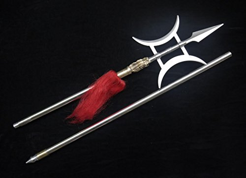 Kung Fu Halberd/Stainless steel hand-made/Two rods/Brass faucet shape/Chinese martial arts