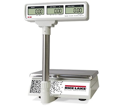Price Computing Scale with Pole Display, 60 lb x 0.02 lb (RS-160-POLE) by Rice Lake