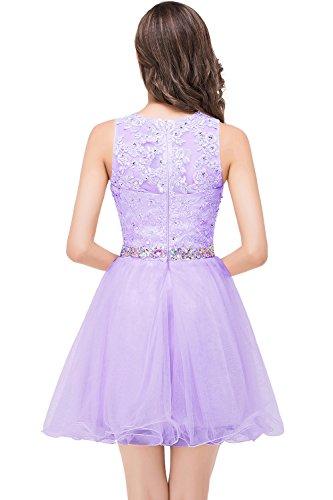 Gr Lila A Abendkleid Ballkleid Damen Linie Spitzenkleid 32 KnieKnielang Prinzessin Schmucksteinen mit MisShow 46 Bestickte Pxw6FEqnYF