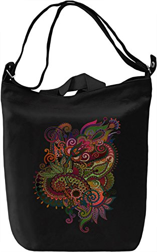 Indian Flower Borsa Giornaliera Canvas Canvas Day Bag| 100% Premium Cotton Canvas| DTG Printing|