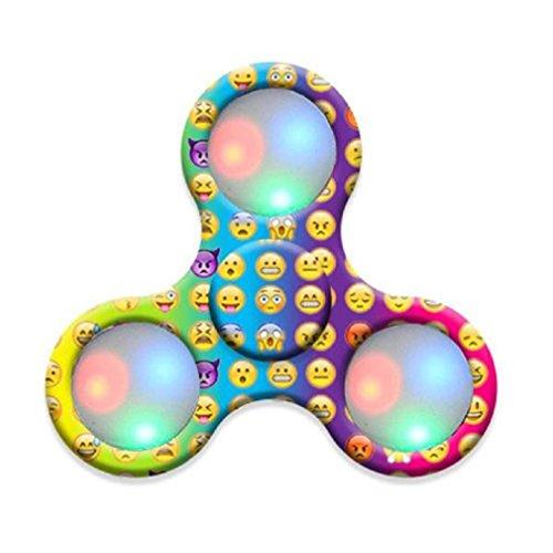 Price comparison product image Tiean Emoji Led Fidget Spinner Cheap Finger EDC Focus Toy