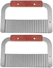 Deror 2 st rostfritt stål handgjorda tvål skrynklig skärare knivar skärverktyg kökstillbehör