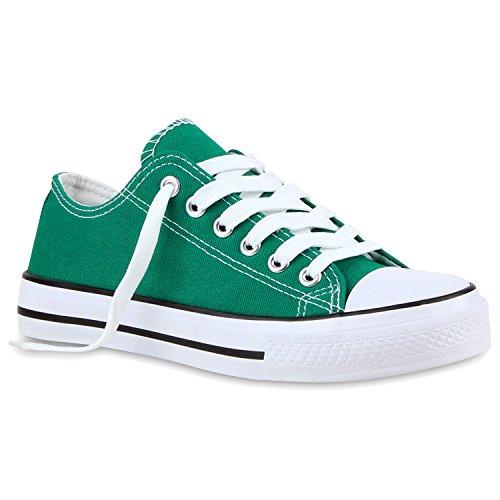 Stiefelparadies - zapatilla baja Mujer Verde