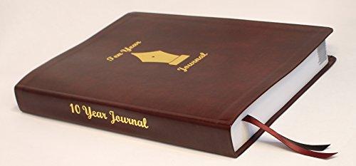 Ten Year Journal 2019 - 2029 Burgundy