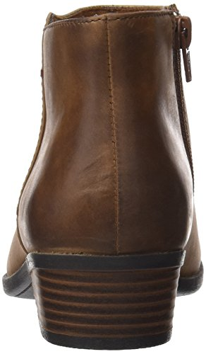 Zora Mujer Addiy Clarks Marrón Leather Militar Botas para Tan C65FWwqZp