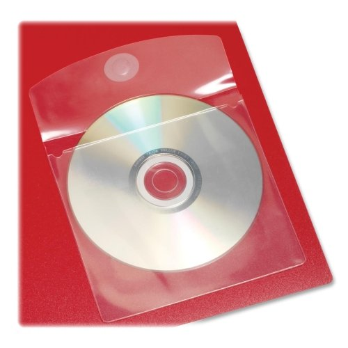 Wholesale CASE of 25 - Cardinal HOLDit! Self-Adhesive CD/DVD Disk Pockets-CD Disk Pockets, Self-Adhesive, 5