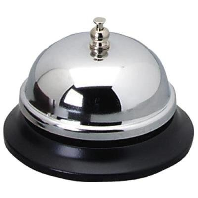 Call Plated Bell Nickel - Sparco Nickel Plated Call Bell, 2 3/4-Inch High, 3 3/8-Inch Base, Chrome/Black (SPR01583)-Sold as a 12 Pack
