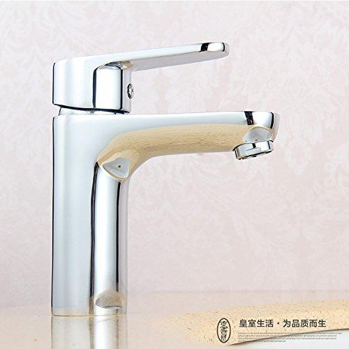 ETERNAL QUALITY Badezimmer Waschbecken Wasserhahn Messing Hahn Waschraum Mischer Mischbatterie Tippen Sie auf Waschbecken Wasserhahn warmes und kaltes Becken voll Kupfer