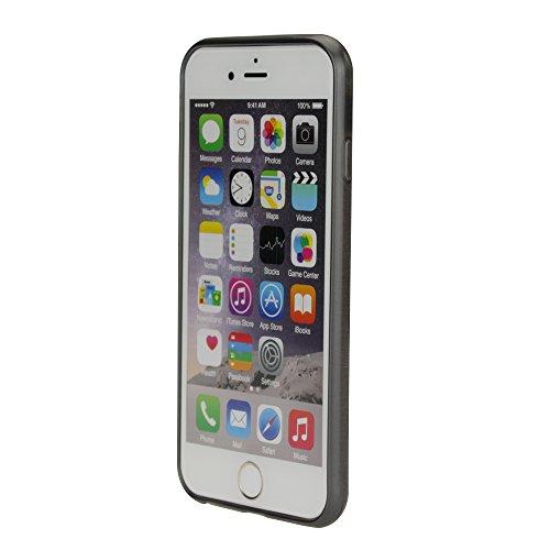 Apple iPhone 6S / 6 Schutzhülle Brushed Silikon Hülle Case Tasche Schale Cover Schwarz von cTRON21