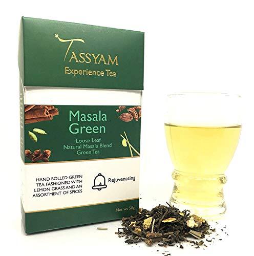 Masala Green Tea Handmade 50grams (1.76 oz) by Tassyam