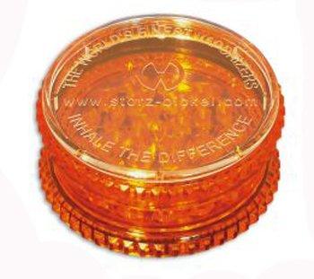 Stortz & Bickle 0930 Volcano Plastic Herb Grinder, 2.3, Orange (Best Grinder For Vaping)