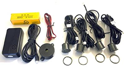 Sound Only, 4 Rear Drill-in (Dark Gray) Sensors Car Backup System (SS4)