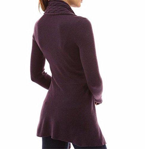 GAMT-Womens-Fashion-V-Neck-Sweater-Hemp-Knit-Long-Section-Cardigan