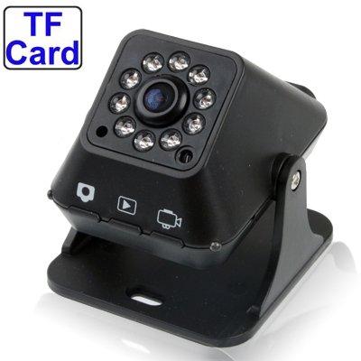 Digital CCD Camera Portable cámara de vigilancia, 10 IR LED Light, compatible con tarjeta
