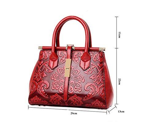 Portable Main Grande Capacité Red LQQAZY Sac àépaulement Relief Diagonale à En HtwFgw7q