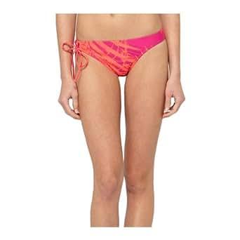 Roxy Women's Boho Bliss Surfer Tie Side Bikini Bottoms - Pop Orange M