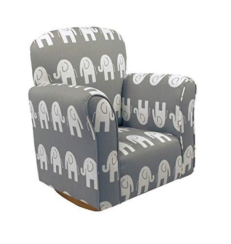 Brighton Home Furniture 3330-81 Child Rocker, Elephant Grey Cotton, One Size