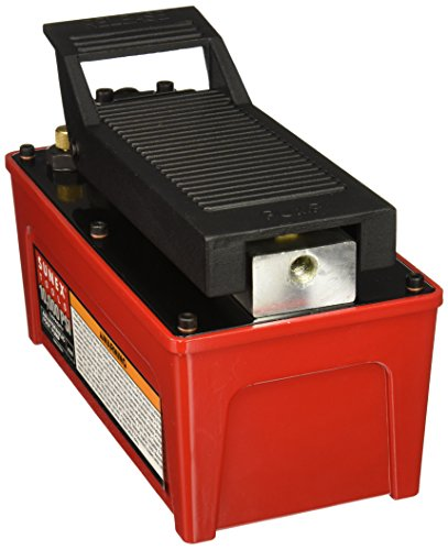 Sunex 4998 10,000-PSI Capacity, Air/Hydraulic, Foot Pump