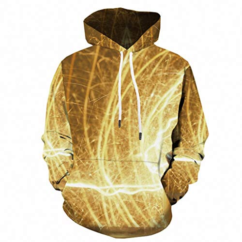 Beautyfine 2019 Mens Halloween Pumpkin 3D Print Hooded Sweatshirts Scary Party Long Sleeve Hoodie ()
