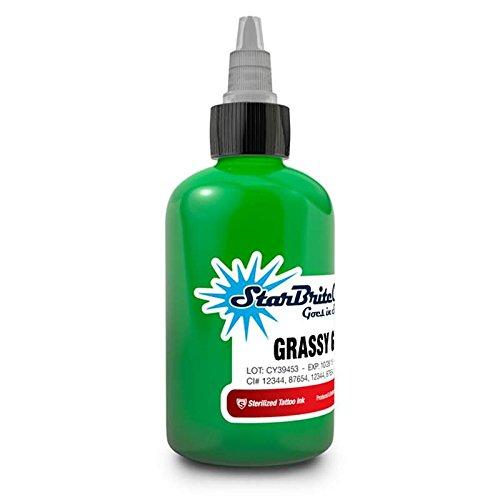 (StarBrite Colors Sterilized Tattoo Ink Grassy Green 1/2 oz)