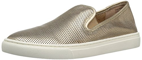 206 Collective Women's Cooper Perforated Slip-on Fashion Sneaker, Rose Gold/Metallic, 9 B US