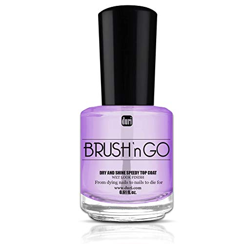 - duri, Brush'n go dry and shine speedy Top Coat, Seals and Protects Nail Polish, 0.61 fl.oz.
