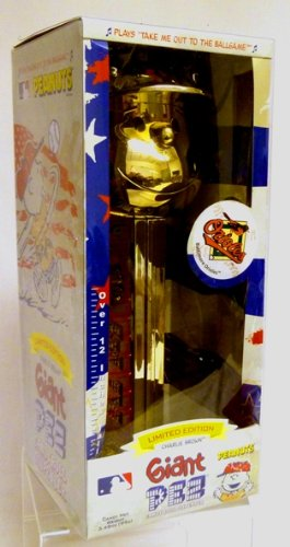 (Pez Gold Plated Charlie Brown Baltimore Orioles - Limited Edition Giant Dispenser)