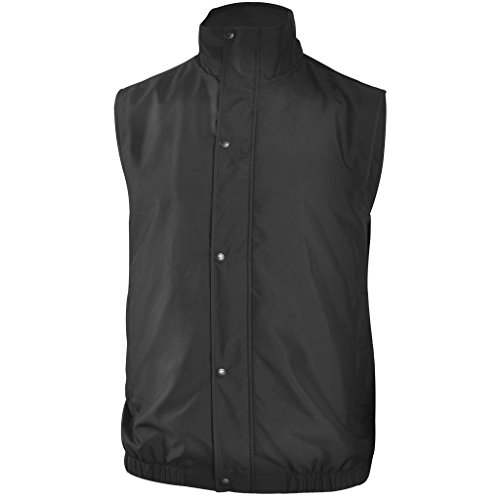 Monterey Club Mens Snapped Solid Classic Vest #1927 (Black, 3X-Large)