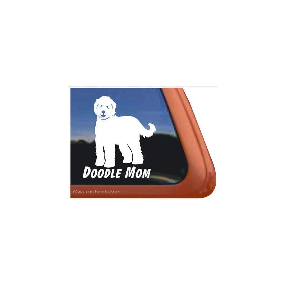 Doodle On Board Vinyl Window Dog Decal Sticker