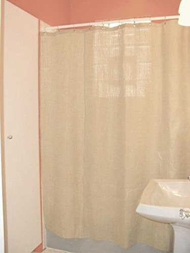 Bean Products Hemp Shower Curtain Size: 70'' x 74'' by Bean Products (Image #4)