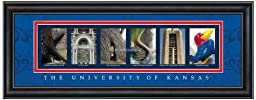 Prints Charming Letter Art Framed Print, U of Kansas-Kansas, Bold Color Border