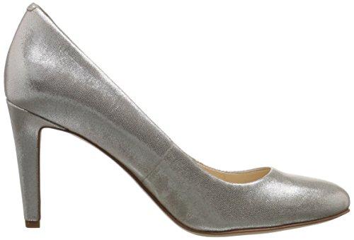 Nueve de la bomba de cuero del vestido Handjive West Light Silver Metallic
