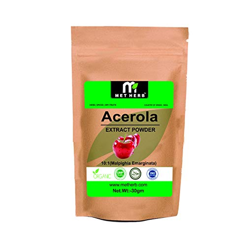 Acerola Cherry Extract Powder Vitamin C Content Dietary Supplements -50 gm