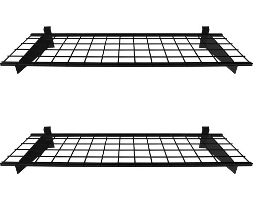 HyLoft 00291 45-Inch by 15-Inch Slat Wall Shelf, 2-Pack, Black (Slat Wall Only)